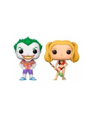 EXCLUSIVE Pack de 2 Beach Joker & Harley Dc Comics Funko Pop! Vinyl