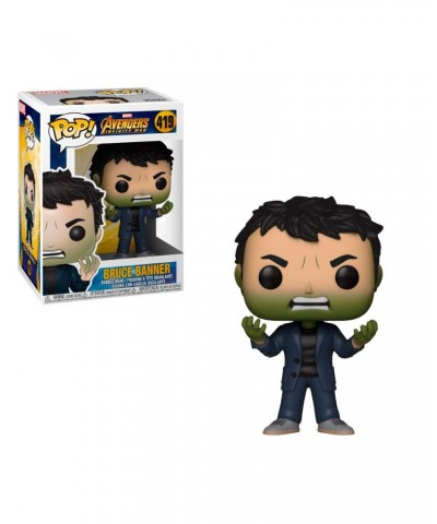 Bruce Banner with Hulk Head Avengers Infinity War Marvel Funko Pop! Bobble Vinyl