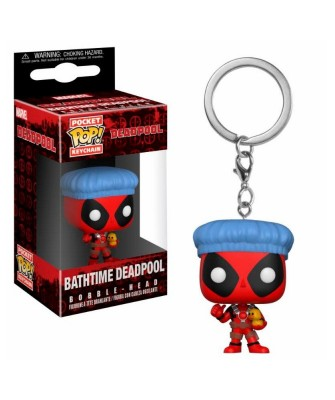 Llavero Bathtime Deadpool Marvel Funko Pop! Pocket