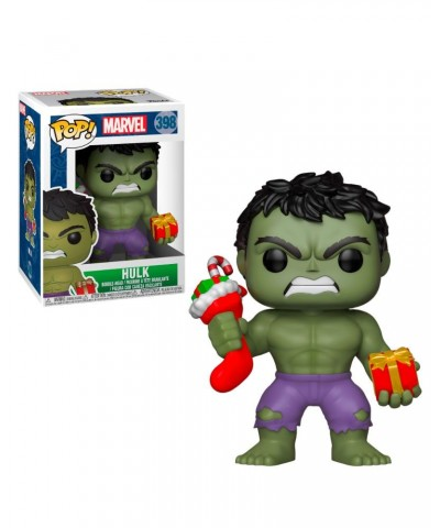 Hulk with Stocking & Plush Marvel Holidays Funko Pop! Vinyl