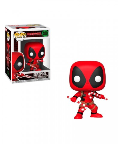 Deadpool with Candy Canes Marvel Holiday Funko Pop! Bobble Vinyl