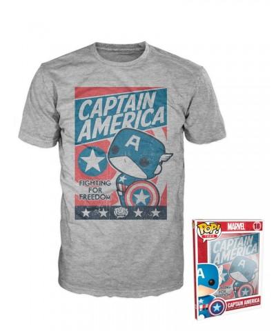 Camiseta Captain America Fighting for Freedom Funko Pop! Tees Talla XL