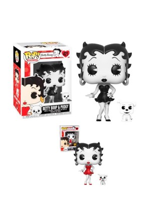 Betty Boop & Pudgy Black and White Funko Pop! Vinyl