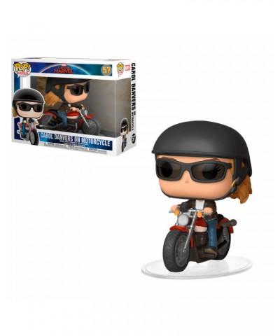 Carol Danvers on Motorcycle Captain Marvel Funko Pop! Rides