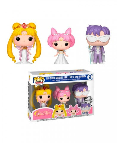 EXCLUSIVE Pack Sailor Moon: Neo Queen Serenity, Small Lady & King Endymion