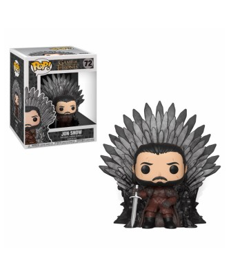 Jon Snow sitting on Throne Game of Thrones Muñeco Funko Pop! Deluxe Vinyl [72]