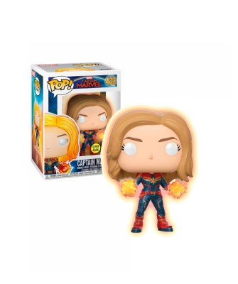 Captain Marvel GITD Marvel Muñeco Funko Pop! Bobble Vinyl [432]
