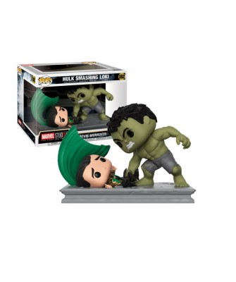 Hulk Smashing Loki Marvel Movie Moment Muñeco Funko Pop! Bobble Vinyl [362]