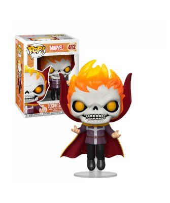 Dr. Strange as Ghost Rider Marvel Muñeco Funko Pop! Bobble Vinyl [412]