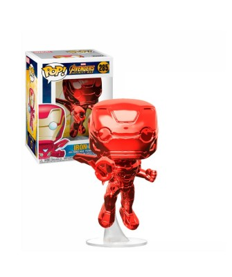 Iron Man (Red Chrome) Marvel Avengers Infinity War Muñeco Funko Pop! Bobble Vinyl [285]
