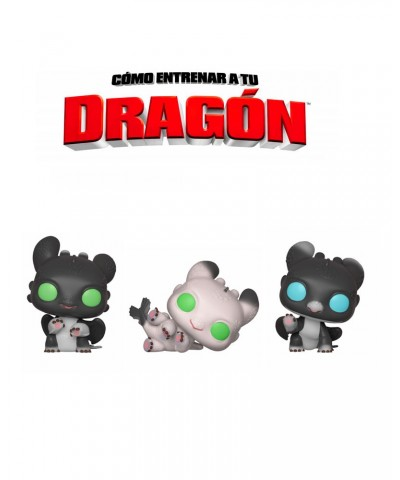 Pack Night Lights Como Entrenar a tu Dragón 3 Muñeco Funko Pop! Vinyl