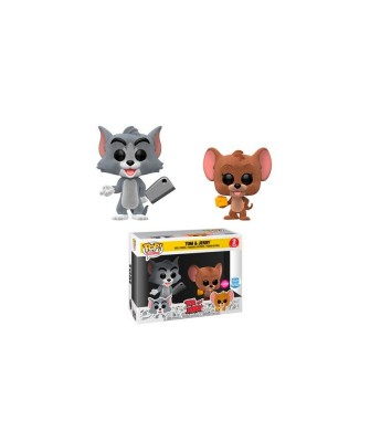 Tom y Jerry Flocked 2Pack Hanna Barbera Muñeco Funko Pop! Vinyl