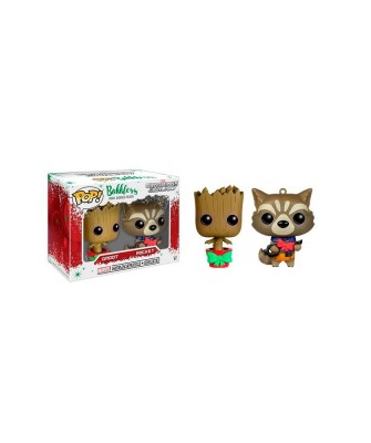 Rocket y Groot Guardianes de la Galaxia 2Pack Marvel Muñeco Mini Funko Pop! Bobble Vinyl