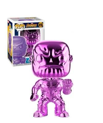 Thanos Cromado Morado Avengers Infinity War Marvel Muñeco Funko Pop! Bobble Vinyl [415]