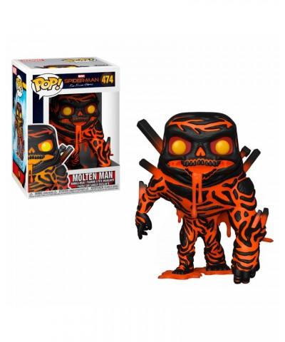Molten-Man Spider-Man Lejos de Casa Marvel Muñeco Funko Pop! Bobble