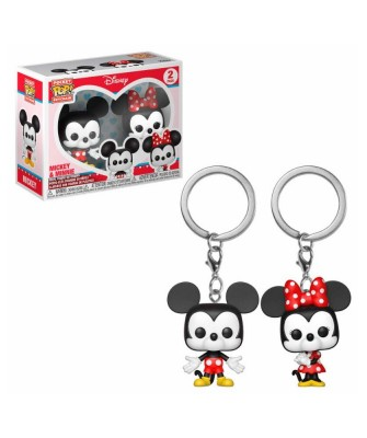 Pack de 2 Llaveros Mickey & Minnie Disney Muñeco Funko Pop! Pocket