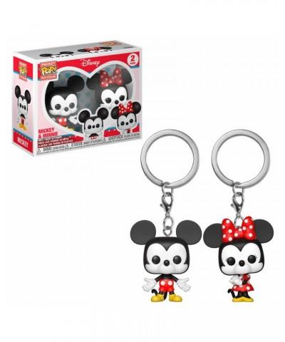 Pack de 2 Llaveros Mickey & Minnie Disney Muñeco Funko Pop! Pocket