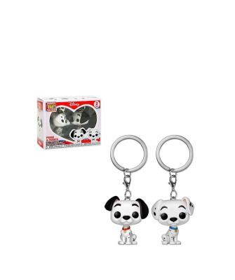 Pack de 2 Llaveros Pongo & Perdita Disney 101 Dálmatas Muñeco Funko Pop! Pocket