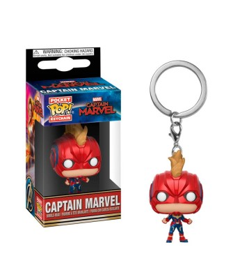Llavero Capitana Marvel con Casco Marvel Muñeco Funko Pop! Pocket