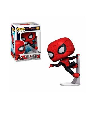 Spider-Man Traje Mejorado Spider-Man Lejos de Casa Marvel Muñeco Funko Pop! Bobble Vinyl