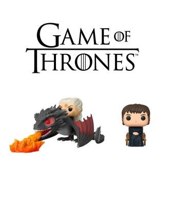 Pack Daenerys & Drogon y Bran El Tullido Juego de Tronos Muñeco Funko Pop Vinyl