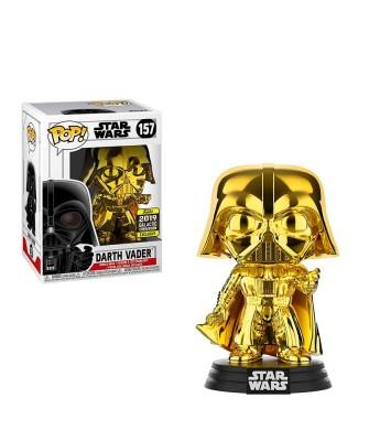 2019 Galactic Convention Exclusive Darth Vader Cromado Star Wars Muñeco Funko Pop! Vinyl [157]