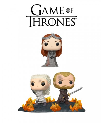 Pack Sansa Stark y Daenerys con Jorah Movie Moment Juego de Tronos Muñeco Funko Pop Vinyl