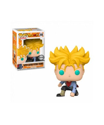 Exclusive Super Saiyan Trunks Dragon Ball Super Muñeco Funko Pop! Vinyl [318]
