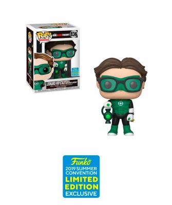 Summer Convention 2019 Leonard Linterna Verde The Big Bang Theory Muñeco Funko Pop! Vinyl [836]