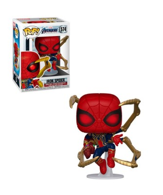 Iron Spider con Nano Guantelete Avengers Endgame Marvel Muñeco Funko Pop! Bobble Vinyl [574]