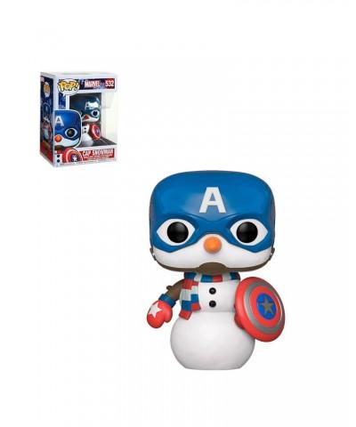 Capitán América Muñeco de Nieve Marvel Holiday Muñeco Funko Pop! Bobble Vinyl