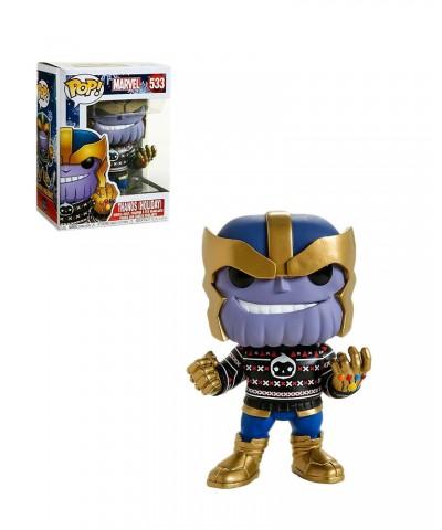 Thanos con Jersey Navideño Marvel Holiday Muñeco Funko Pop! Bobble Vinyl