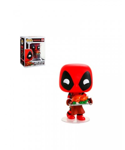 Deadpool con Pavo Marvel Holiday Muñeco Funko Pop! Bobble Vinyl