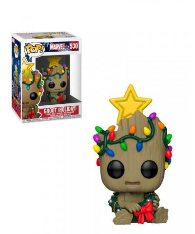 Groot con Luces de Navidad Marvel Holiday Muñeco Funko Pop! Bobble Vinyl