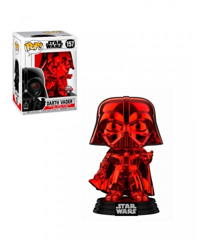 Darth Vader Cromado Rojo Star Wars Muñeco Funko Pop! Bobble Vinyl [157]