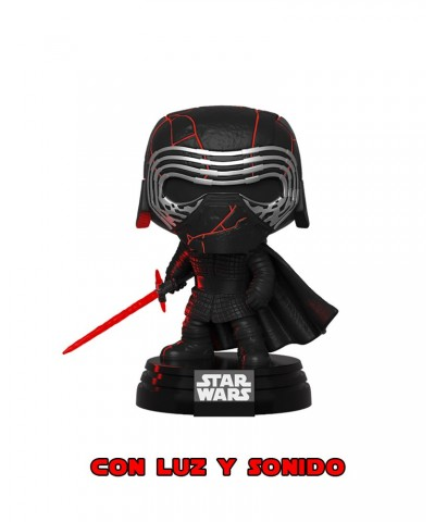 Kylo Ren con Luz y Sonido Star Wars El Ascenso de Skywalker Muñeco Funko Pop! Bobble Vinyl
