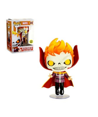Doctor Strange Ghost Rider (Brilla en la oscuridad) Marvel Muñeco Funko Pop! Bobble Vinyl [412]