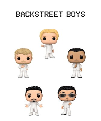 Pack Backstreet Boys Muñeco Funko Pop! Rocks Vinyl