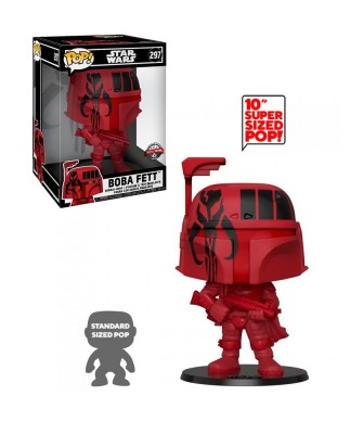 "Special Edition Boba Fett (Red) 10"" Star Wars Muñeco Funko Pop! Bobble Vinyl [297]"
