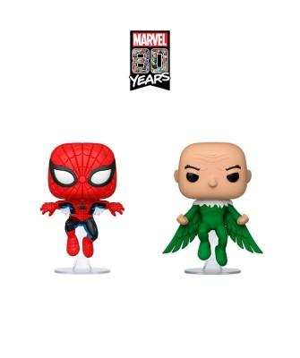 Pack Spider-Man y Vulture (1ª Aparición) Marvel 80th Muñeco Funko Pop! Bobble Vinyl