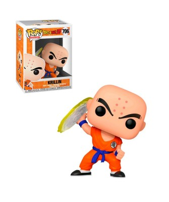 Krilin con Disco Destructor Dragon Ball Z Muñeco Funko Pop! Vinyl