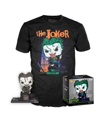 The Joker DC Pop! & Tee Caja Funko