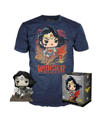 Wonder Woman DC Jim Lee Pop! & Tee Caja Funko