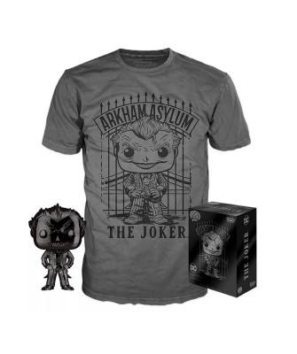 Joker Black Chrome DC Pop! & Tee Caja Funko