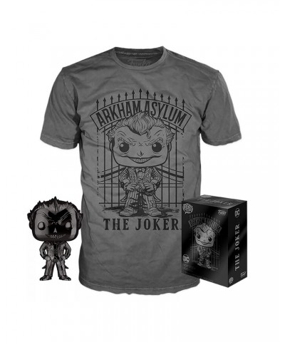 Joker Black Chrome DC Pop! & Tee Caja Funko