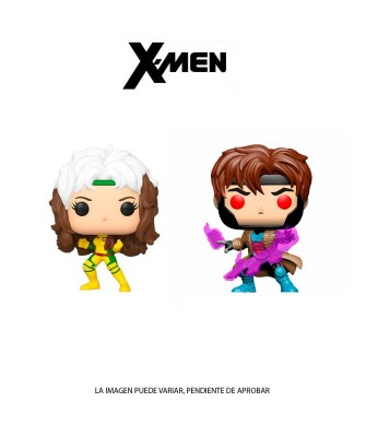 Pack Gambito y Rogue X-Men Marvel Muñeco Funko Pop! Bobble Vinyl