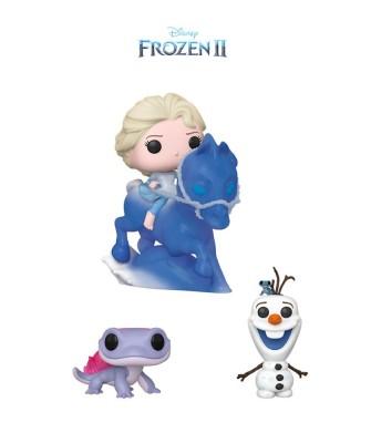 Pack Bruni, Olaf con Bruni y Elsa sobre Nokk Frozen 2 Disney Muñeco Funko Pop! Vinyl