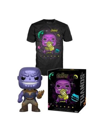 Thanos Metálico Avengers Infinity War Marvel Pop! & Tee Caja Funko