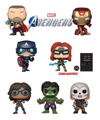 Pack Avengers Game Marvel Muñeco Funko Pop! Bobble Vinyl (Chase Aleatorio)