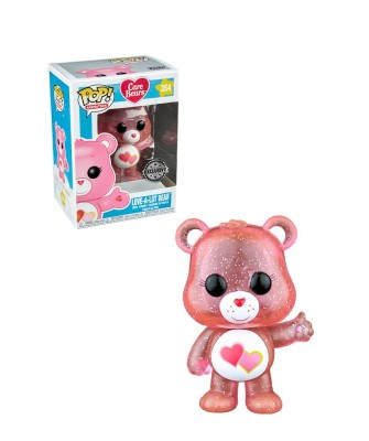 EXCLUSIVE Love-A-Lot Bear Glitter Care Bears Funko Pop! Vinyl